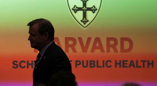 'Football has always evolved, and it always will,' Goodell tells a crowd at Harvard. (AP)