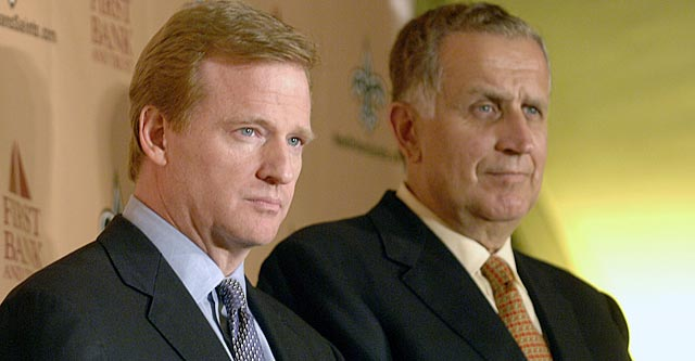 Paul Tagliabue, whom Roger Goodell succeeded in 2006, is a few weeks from making a ruling. (Getty Images)