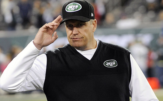 Rex Ryan watched the Jets give up their most points since allowing 52 to the Dolphins in 1995. (AP)