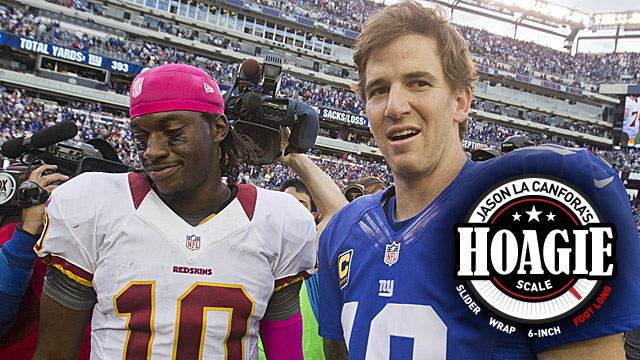 Robert Griffin III and the Redskins will try to avenge an earlier loss to the Giants. (US Presswire)
