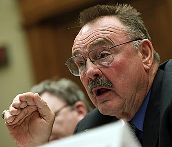 Dick Butkus, not the most logical choice, testifies on The Hill on Wednesday. (Getty Images)