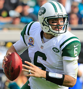 Christmas miracle: Mark Sanchez and the Jets are still alive in the playoff hunt. (Getty Images)