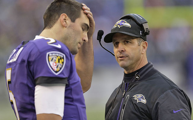 Joe Flacco has led John Harbaugh's team to the playoffs five straight times; so what's the problem? (AP)