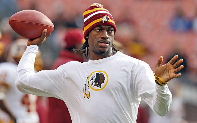 Robert Griffin III was inactive for the Redskins' victory over the Browns on Sunday. (AP)