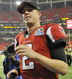 Matt Ryan and the Falcons are one win away from home-field advantage. (AP)