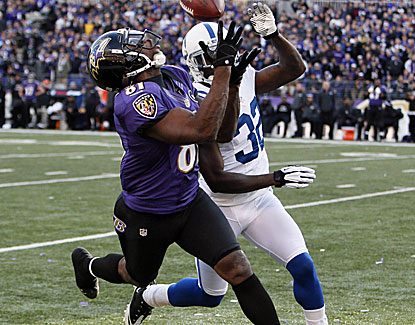Anquan Boldin sets a franchise record with 145 yards receiving, including the clinching TD in the Ravens' 24-9 victory. (US Presswire)
