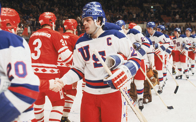 Mike Eruzione, Team USA's captain at the 1980 Olympics, is auctioning off some of his memorabilia. (Getty Images)