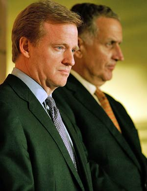 Goodell and Paul Tagliabue were both involved in saving the storm-ravaged Superdome. (Getty Images)
