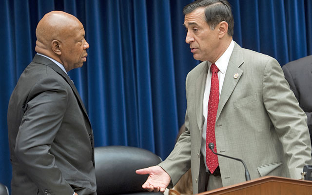 Democrat Elijah Cummings and Republican Darrell Issa say they want answers on HGH testing. (Getty Images)