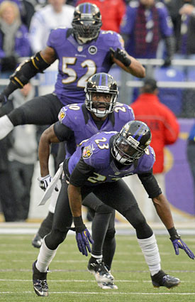 Aging Ray Lewis and Ed Reed can still make plays, while nickel corner Chykie Brown has stepped up for the Ravens. (Getty Images)