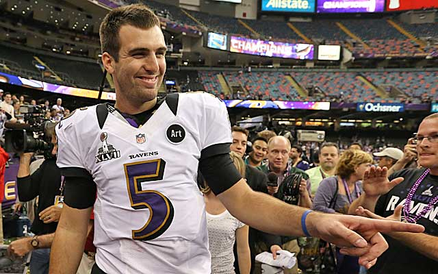 Flacco's $62M over the first three years passes Drew Brees' deal by $1M. (USATSI)