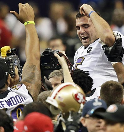 A Super Bowl title and a dream contract make for quite a four-week run for Joe Flacco. (AP)