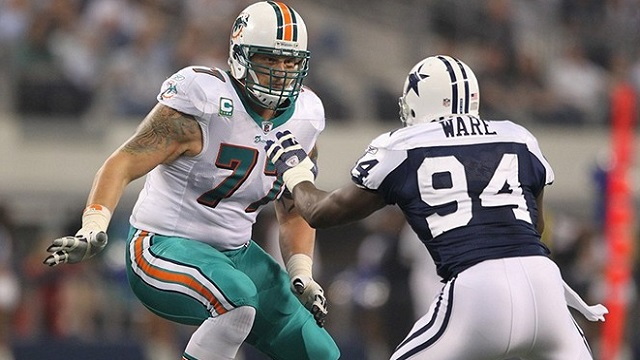The Dolphins potentially could lose OT Jake Long to free agency. (USATSI)