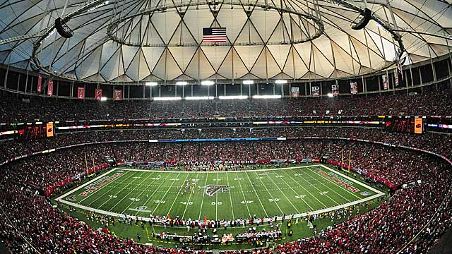 The Georgia Dome, only 20 years old, is just north of the new site. (Getty Images)