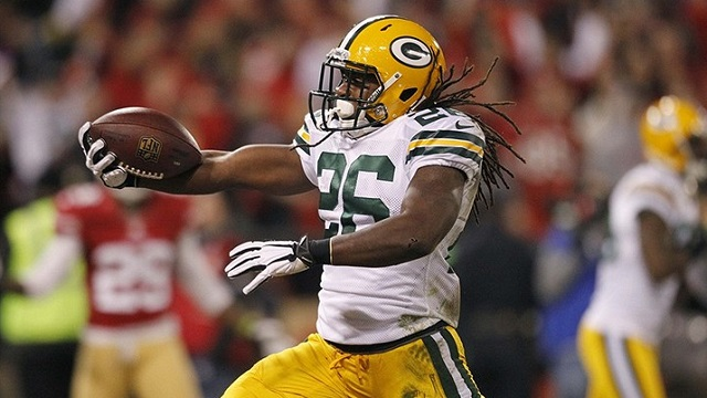 DuJuan Harris supplied a spark, but the Packers could be looking at running backs. (USATSI)