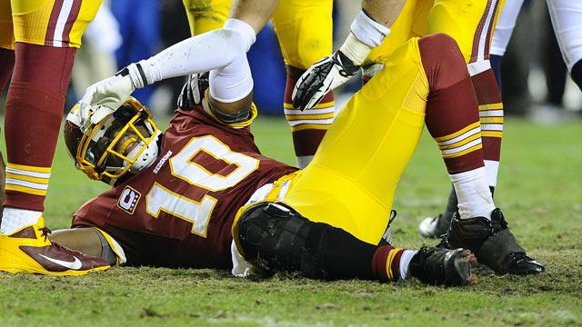 Robert Griffin III has been through a lot since tearing up his knee Jan 6. (USATSI)