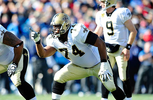 Drew Brees excelled with Jermon Bushrod protecting his blind side the past four years. (Getty Images)