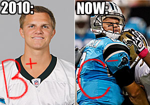 Jimmy Clausen. (L: Getty Images; R: USATSI)