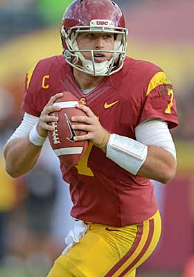 Don't expect Matt Barkley to fall past the first round. (USATSI)
