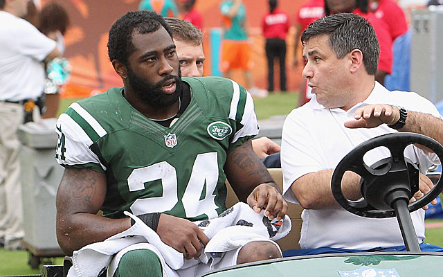 Darrelle Revis missed 13 games after tearing an ACL last season. (Getty Images)