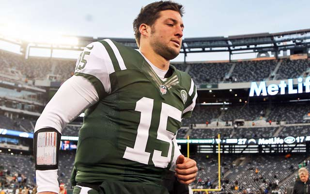 Tim Tebow's future in the NFL is up in the air after he is cut by the Jets. (USATSI)