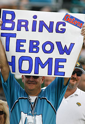 Tebow fans might want him back in Jacksonville, but the Jaguars apparently don't. (USATSI)