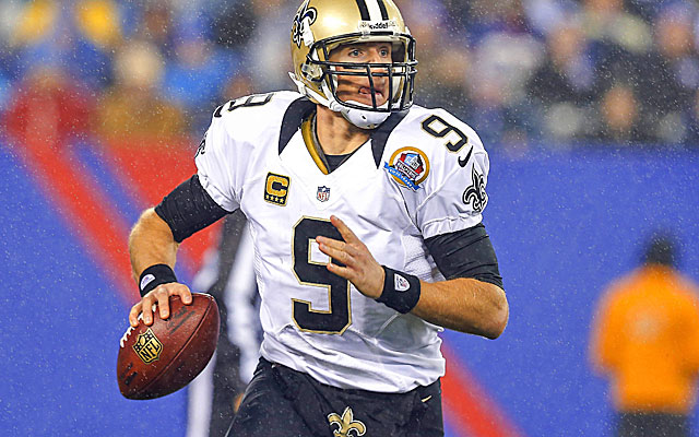 Drew Brees threw for more than 5,000 yards for the second straight season in 2012. (USATSI)