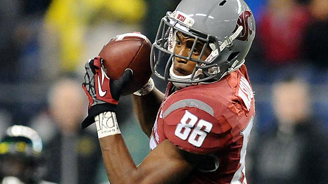 Marquess Wilson slid in the draft after an ugly exit at Washington State.  (USATSI)