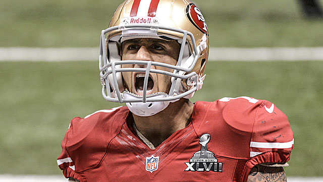 Colin Kaepernick is on the rise as a starting QB. (USATSI)