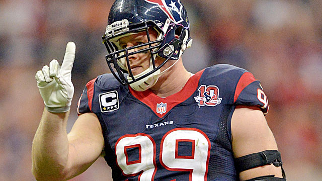 J.J. Watt is a one-man wrecking crew for the Texans. (USATSI)
