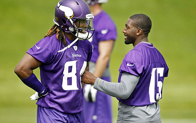 Cordarrelle Patterson will serve as an understudy to Greg Jennings while honing his receiving skills. (USATSI)