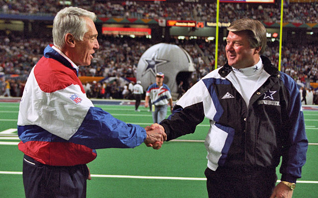 Marv Levy went to four straight NFL title games with the Bills, losing twice to Jimmy Johnson's Cowboys. (USATSI)