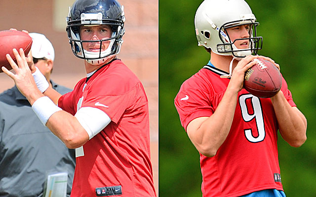 Matt Ryan and Matthew Stafford both look to be in line for big paydays. (USATSI)