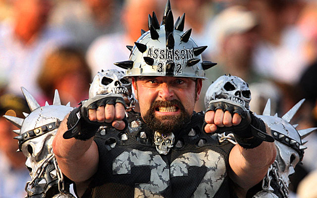 This man needs a new home ... to go see his beloved Raiders. (USATSI)