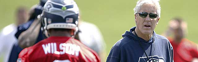Pete Carroll and the Seahawks never sit still at camp. (USATSI)