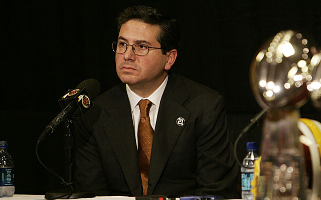 Team owner Dan Snyder is adamant about not changing the Redskins name. (USATSI)