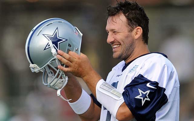 Tony Romo has a 55-38 career record with the Cowboys.  (USATSI)