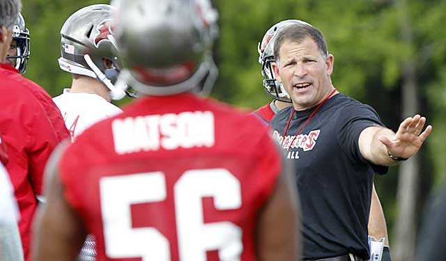 Bucs coach Greg Schiano may never be a softy, but he's easing up a bit this training camp. (USATSI)