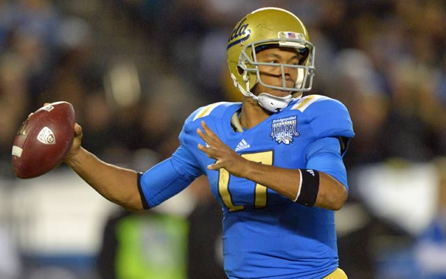 Brett Hundley should be the first UCLA QB drafted since Cade McNown in 1999. (USATSI)