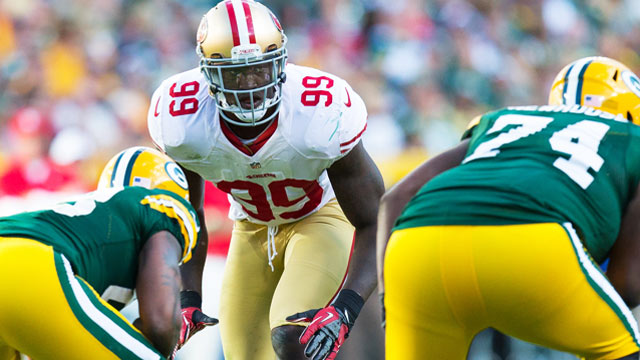 Aldon Smith was one of two NFL players named in a lawsuit filed on Tuesday. (USATSI)