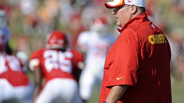 Andy Reid, 55, is renewed with a fresh start in a very different part of the country. (USATSI)