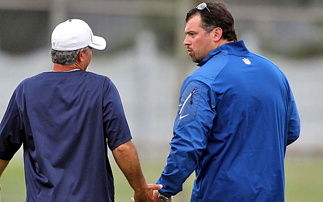 Chuck Pagano is amazed by Grigson's work ethic. 'I don't know if the guy sleeps,' he says. (USATSI)