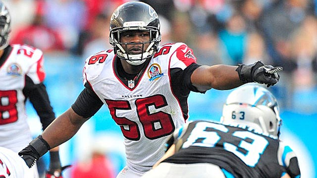 Young linebacker Sean Weatherspoon is the clear leader of the Falcons defense. (USATSI)