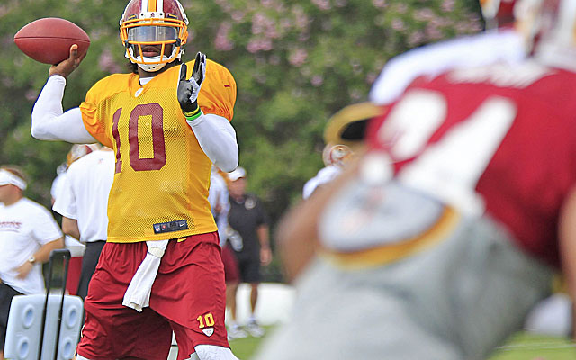 Robert Griffin III looks like he'll be ready for the Redskins opener. (USATSI)