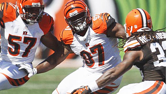Geno Atkins, middle, has earned quite an extension. (USATSI)