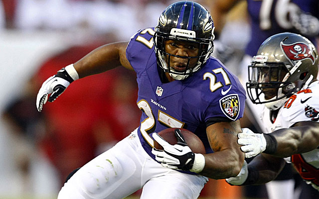 Ray Rice is going to remain a big cog in the Ravens' passing game, but in a different way. (USATSI)