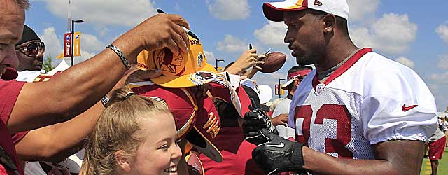 Fred Davis shows no ill effects of the Achilles' injury that shortened last season. (USATSI)
