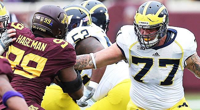 Taylor Lewan looks like a sure No. 1 pick, and Shede Hageman might be one too. (USATSI)