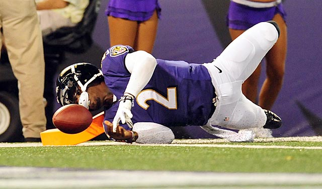 Tyrod Taylor makes a big play here, but a Ravens penalty wipes it out.