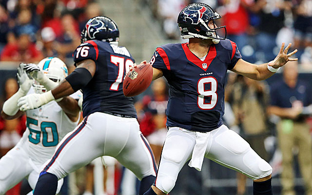 Matt Schaub is back under center and knows the Texans are championship contenders. (USATSI)